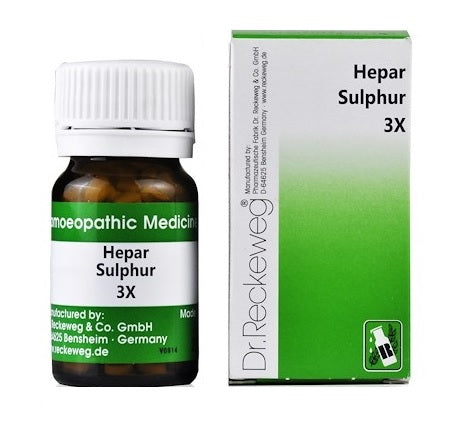 Dr Reckeweg Hepar Sulphur 3X Trituration Tablets