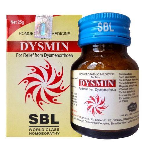 SBL Dysmin Tablets for Dysmenorrhoea or Painful Menstruation