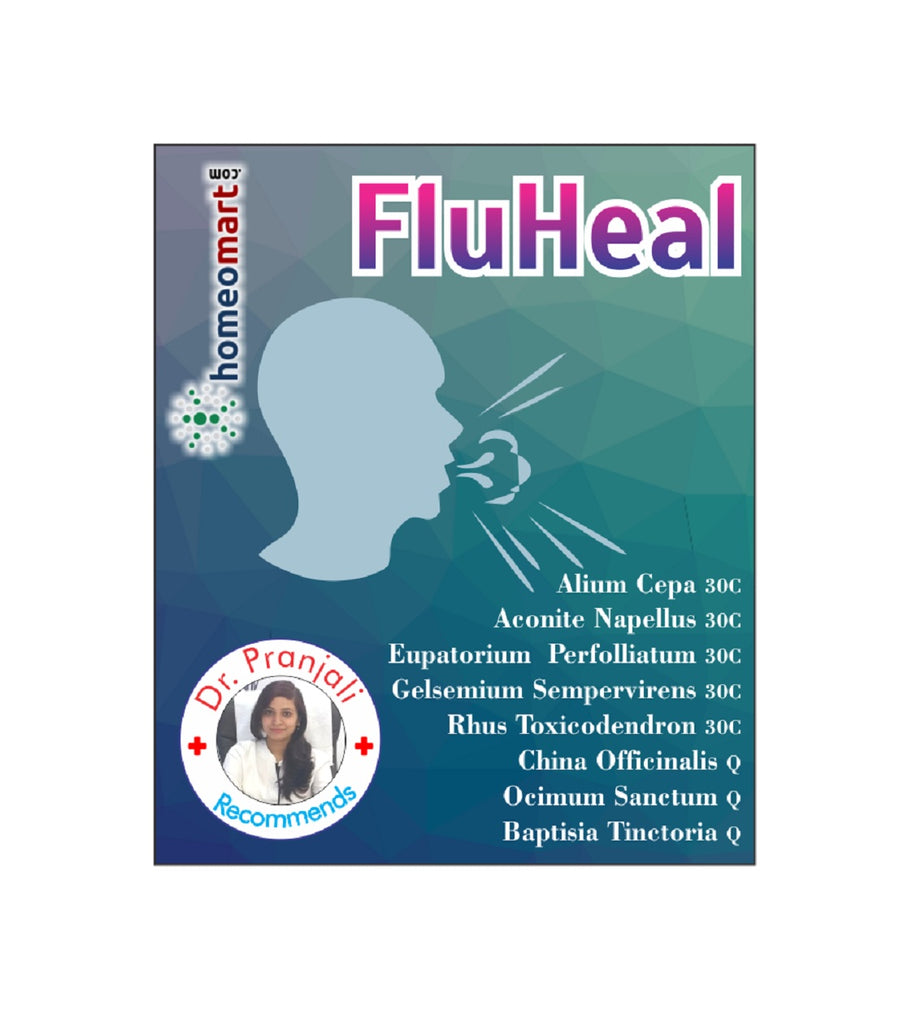 Fluheal homeopathy medicine kit for influenza flu viral fever