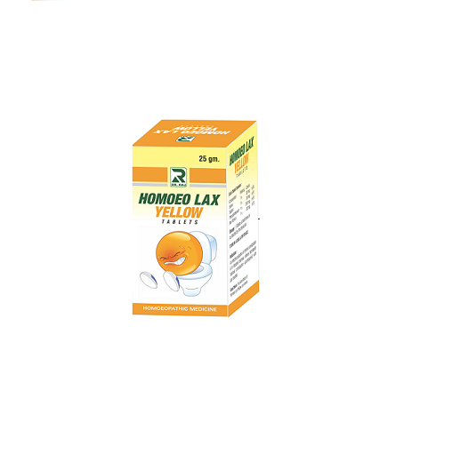 Dr Raj Homoeolax Yellow Tablet for chronic constipation, gas troubles