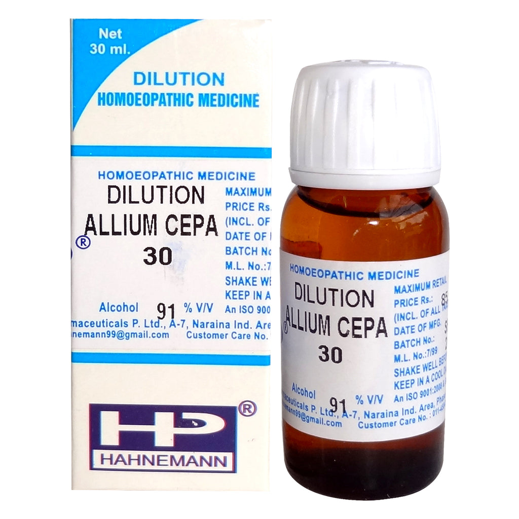 Allium Cepa Homeopathy Dilution 6C, 30C, 200C, 1M, 10M, CM