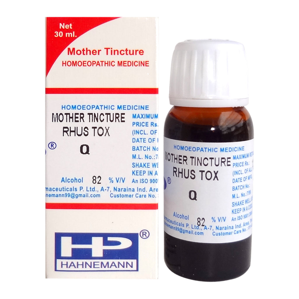 Rhus Toxicodendron Homeopathy Mother Tincture Q