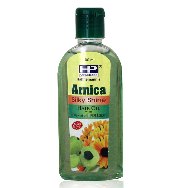 Hahnemann Arnica hair oil with goodness of herbal extract for silky hair