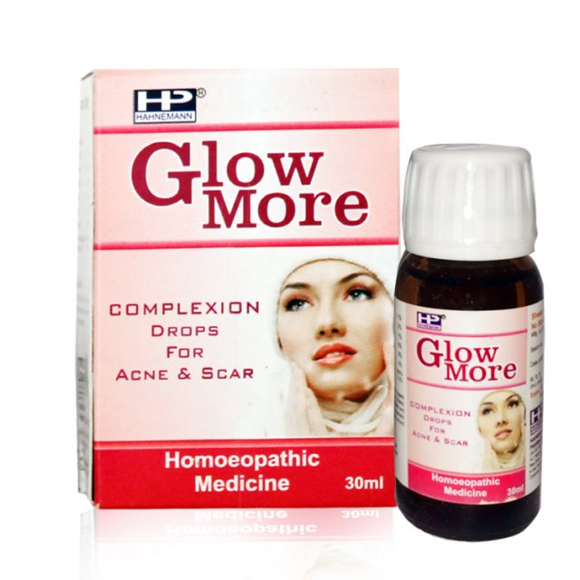 Hahnemann pharma Glow More complexion drops for acne, scars