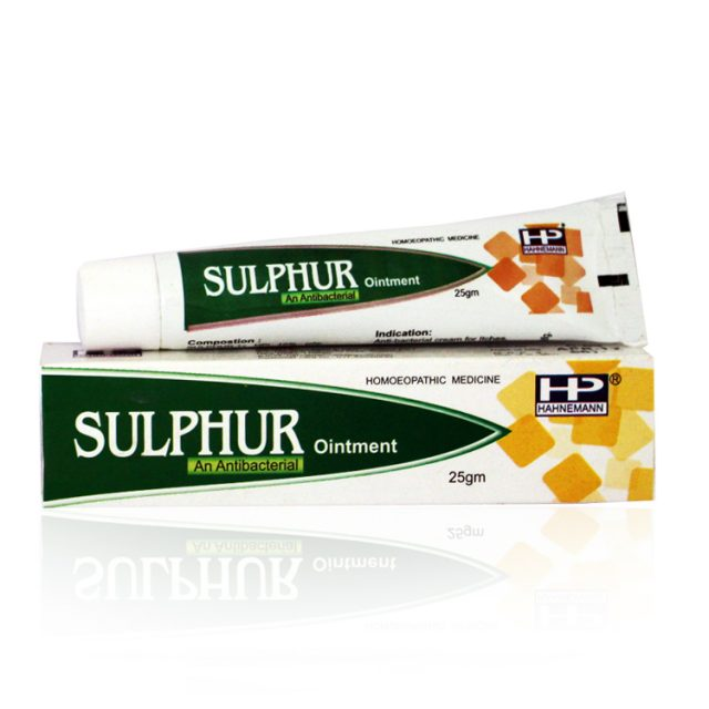 Hahnemann pharma Sulphur Ointment - Antibacterial Medicine for Itching and Skin Infections