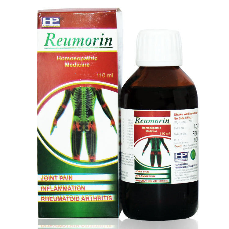 Hahnemann pharma reumorin for joint ache inflammation arthritis