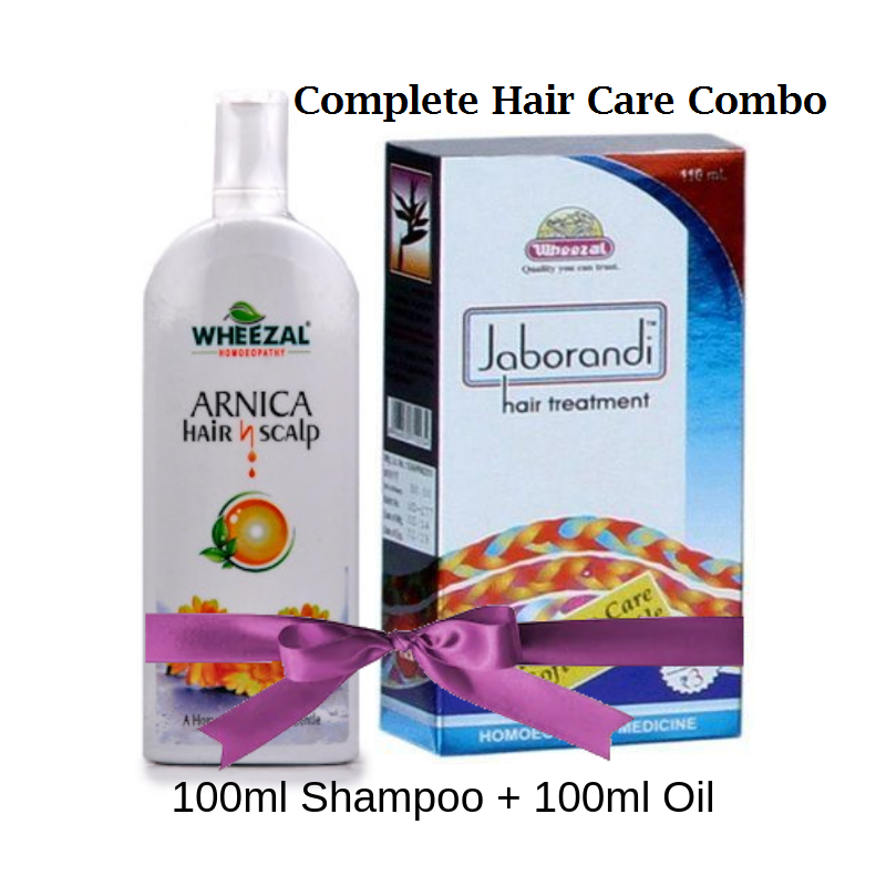 Wheezal Jaborandi hair oil & Arnica Hair n scalp shampoo - Hair care combo 12% off