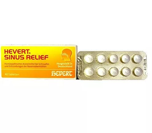 Hevert Germany Sinus Relief Tablets - Relieves Nasal and Sinus Congestion