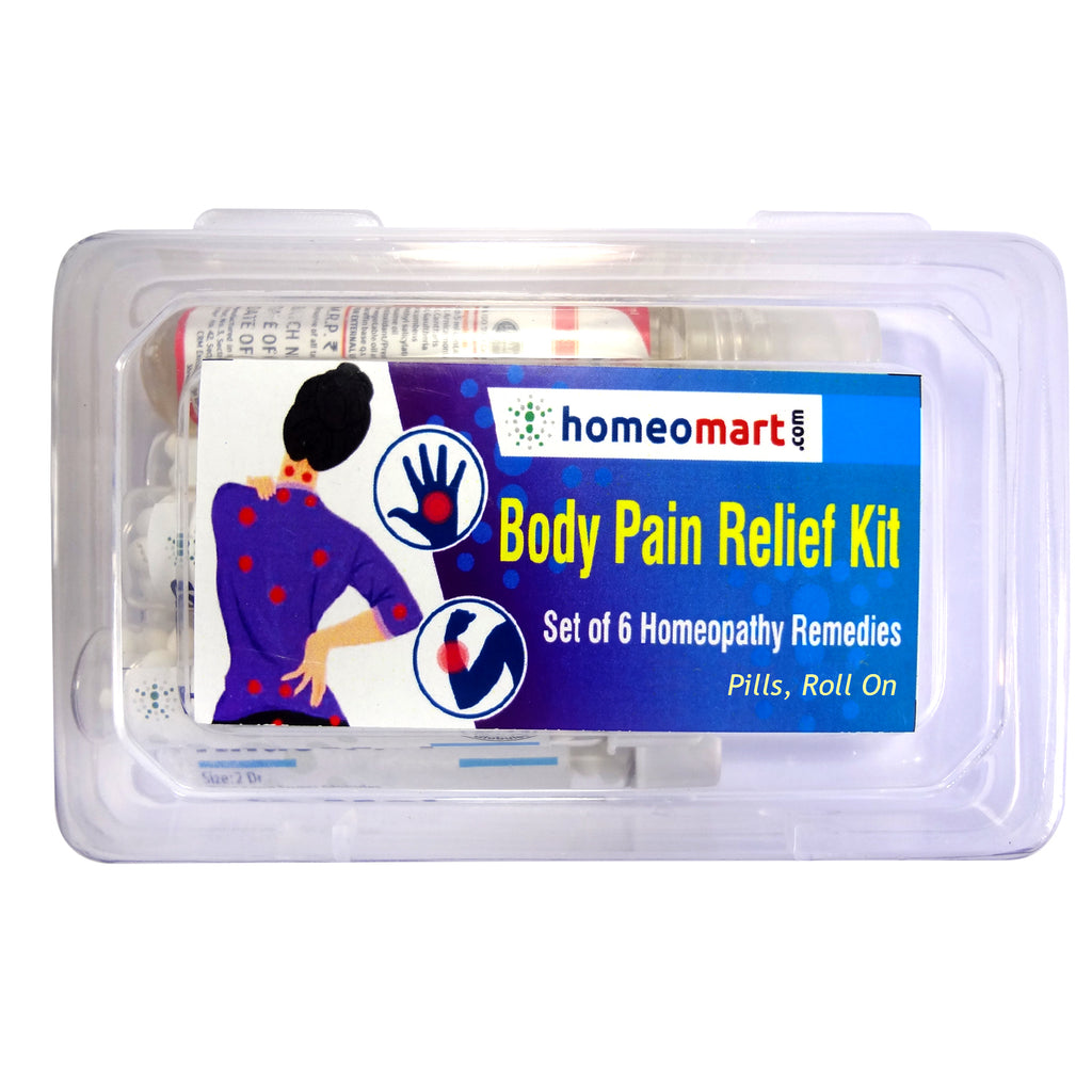 Homeopathy Body Pain Relief Medicines Kit