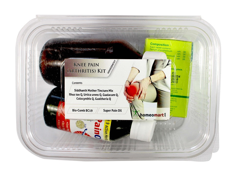 Knee pain homeopathy medicine kit for knee pain relief runners knee