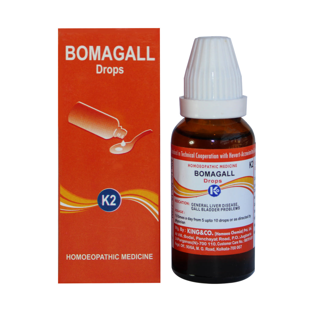 King & Co Bomagall Drops K2 for Liver disease, gall bladder disorders