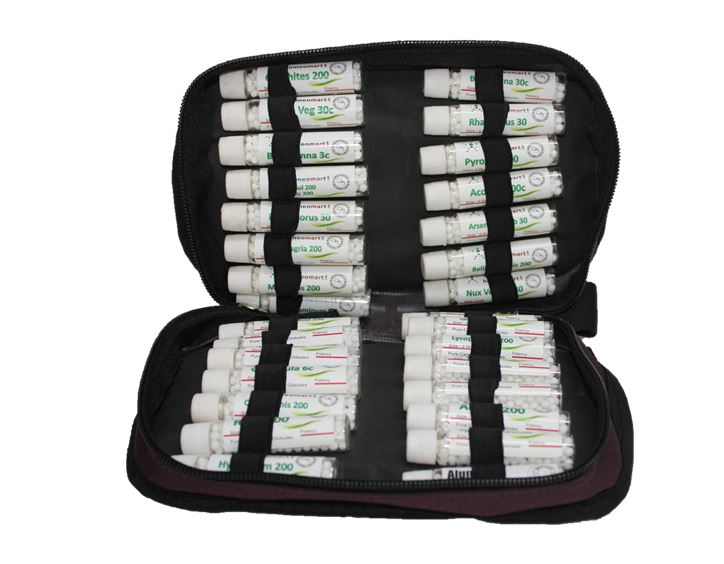 """Homeopathy Cold Flu Kit with 23 remedies in zip case"""