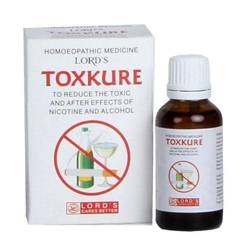 Lords Toxkure drops for smoking cessation and alcoholism
