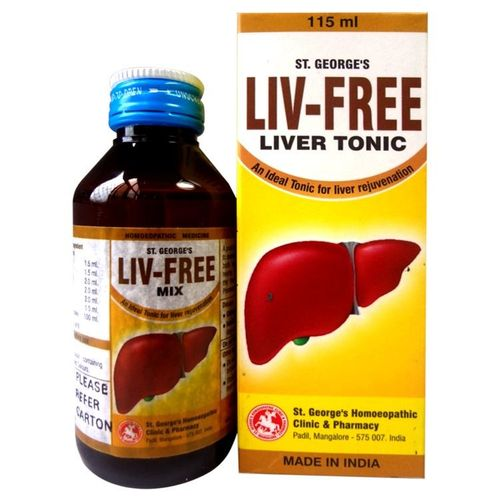 St George Liv -Free (Liver Tonic) - An Ideal Tonic  for Liver Rejuvenation-Pack of 3