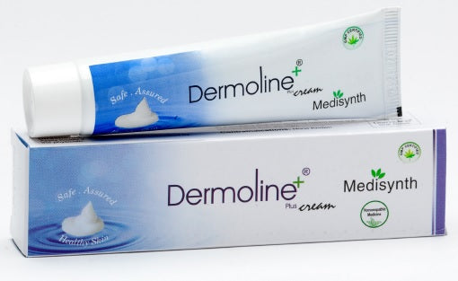 Medisynth Dermoline Plus Cream for atopic dermatitis, eczema, pruritus, skin rashe