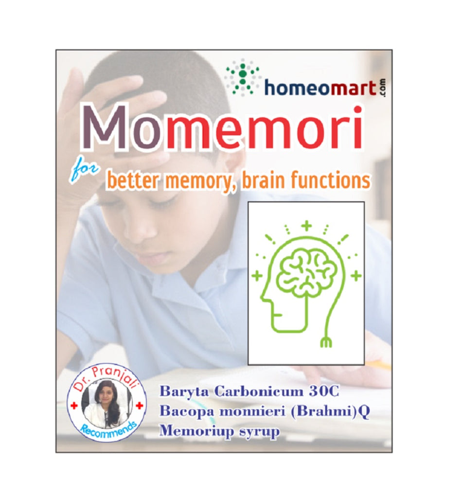 Momemori homeopathy for poor memory with bacopa monneiri