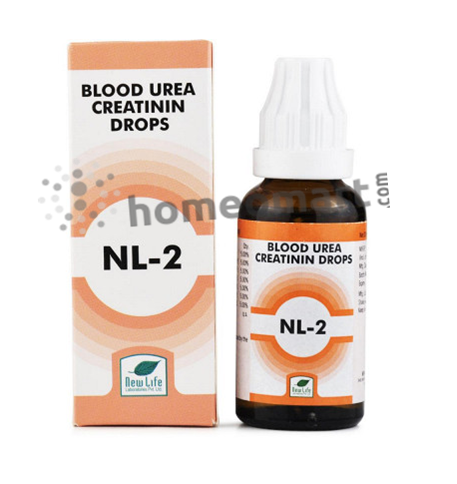New Life NL-2 blood urea creatinin drops for kidney disorders