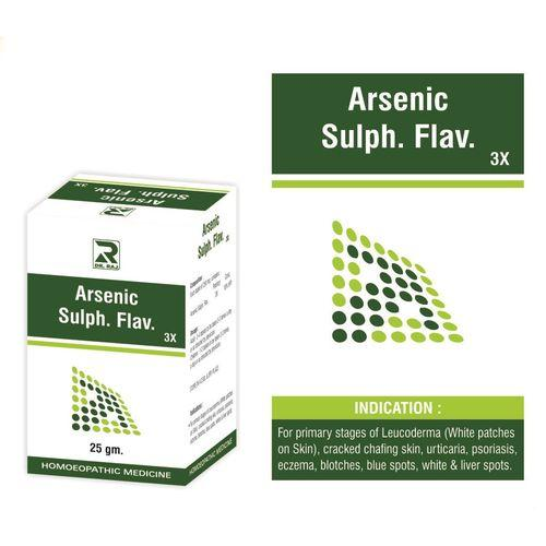 Dr Raj Arsenic Sulph.Flav 3X Tablets for Leucoderma, Vitiligo