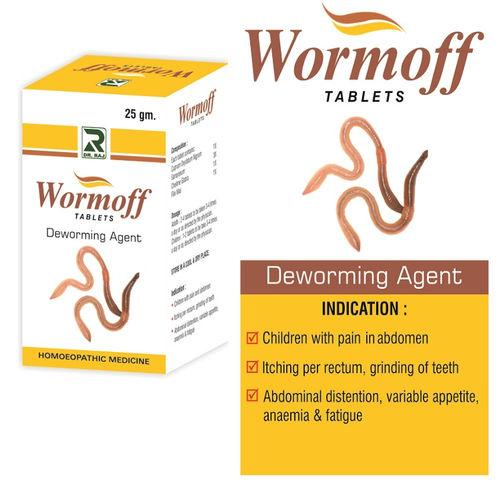 Dr.Raj Homeopathy Wormoff Tablets - Deworming Agent