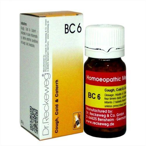 Dr.Reckeweg Biochemic Combination Tablets BC6 for Cough, Cold & Catarrh