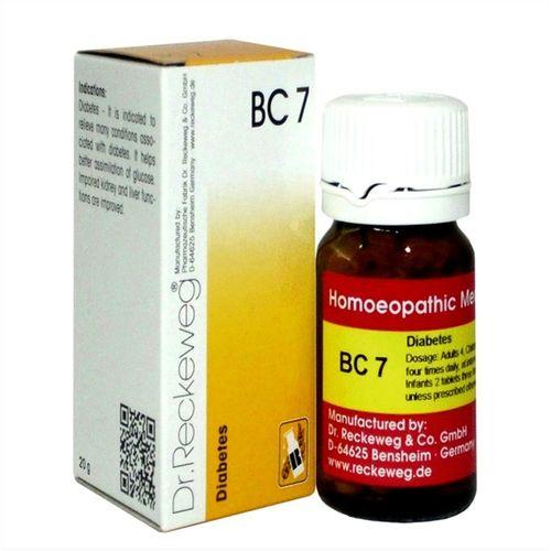 Dr Reckeweg Biochemic Combination Tablets BC7 for Diabetes