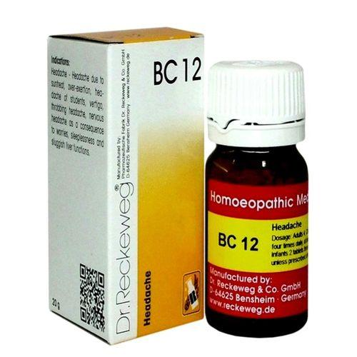 Dr.Reckeweg Biochemic Combination Tablets BC12 for Headache