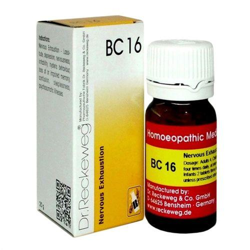 Dr Reckeweg Biochemic Combination Tablets BC16 for Nervous Exhaustion, Depression