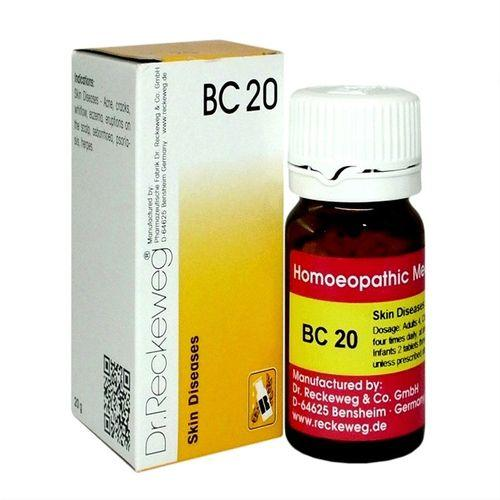 Dr Reckeweg Biochemic Combination Tablets BC20 for Acne, Eczema, Psoriasis, Scalp eruptions