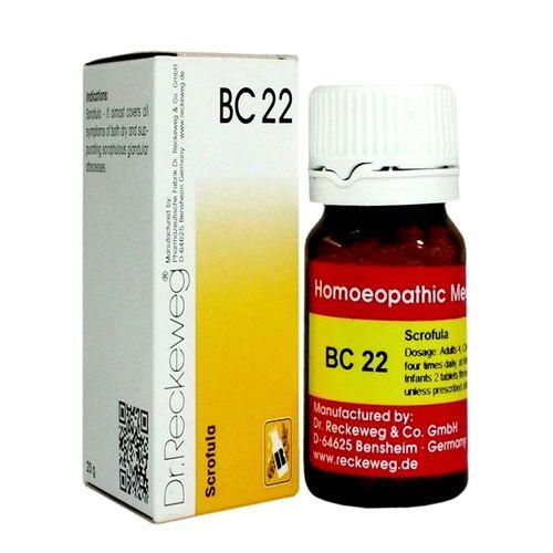 Dr Reckeweg Biochemic Combination Tablets BC22 for Scrofula (glandular swelling)