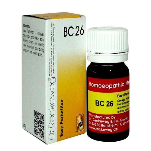 Dr Reckeweg Biochemic Combination Tablets BC26 for easy Parturition (Delivery)
