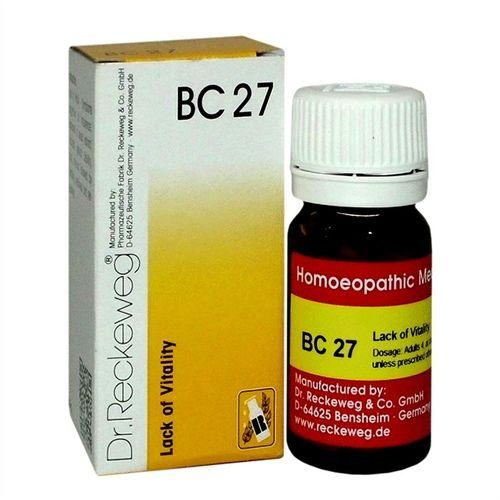 Dr Reckeweg Biochemic Combination Tablets BC27 for Impotence, Premature ejaculation