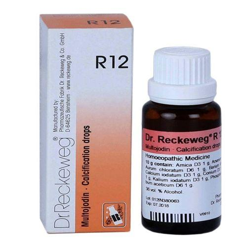 Dr.Reckeweg R12 Calcification drops for Weak Memory, Vertigo, Sclerosis, Goiter