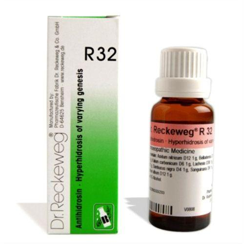Dr.Reckeweg R32 Hyperhidrosis drops for excessive sweating, hot sticky sweat, odour