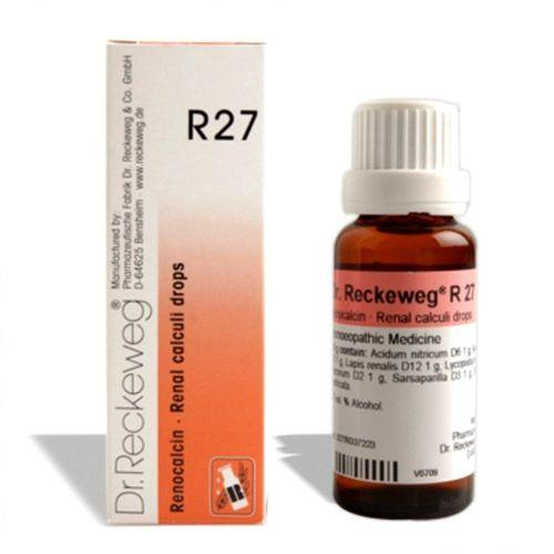 Dr.Reckeweg R27 Renal Calculi drops for Kidney Stones, Cloudy Urine