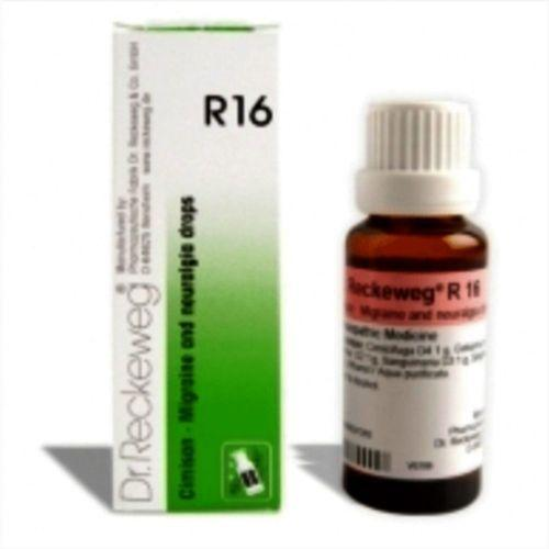 Dr.Reckeweg R16  Migraine & Neuralgia drops for Headache, Nervous irritability, Congestion