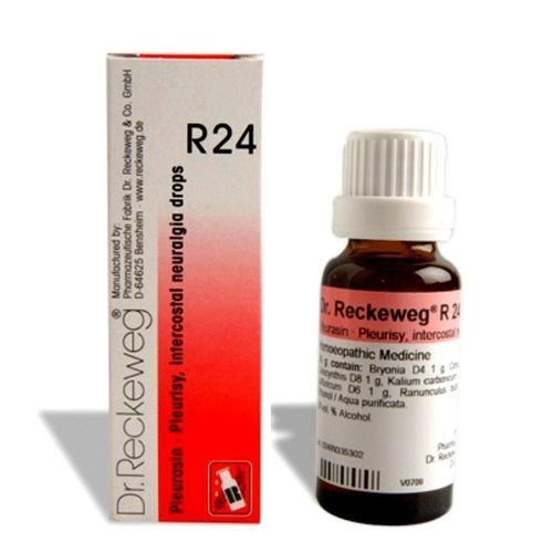 Dr.Reckeweg R24 drops for Intercostal neuralgia (rib pain), Ovaritis, Pleuritis