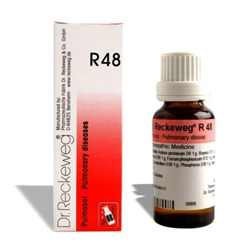 Dr.Reckeweg R48 Pulmonary disease drops for Tuberculosis, bronchial asthma, Smoking cough