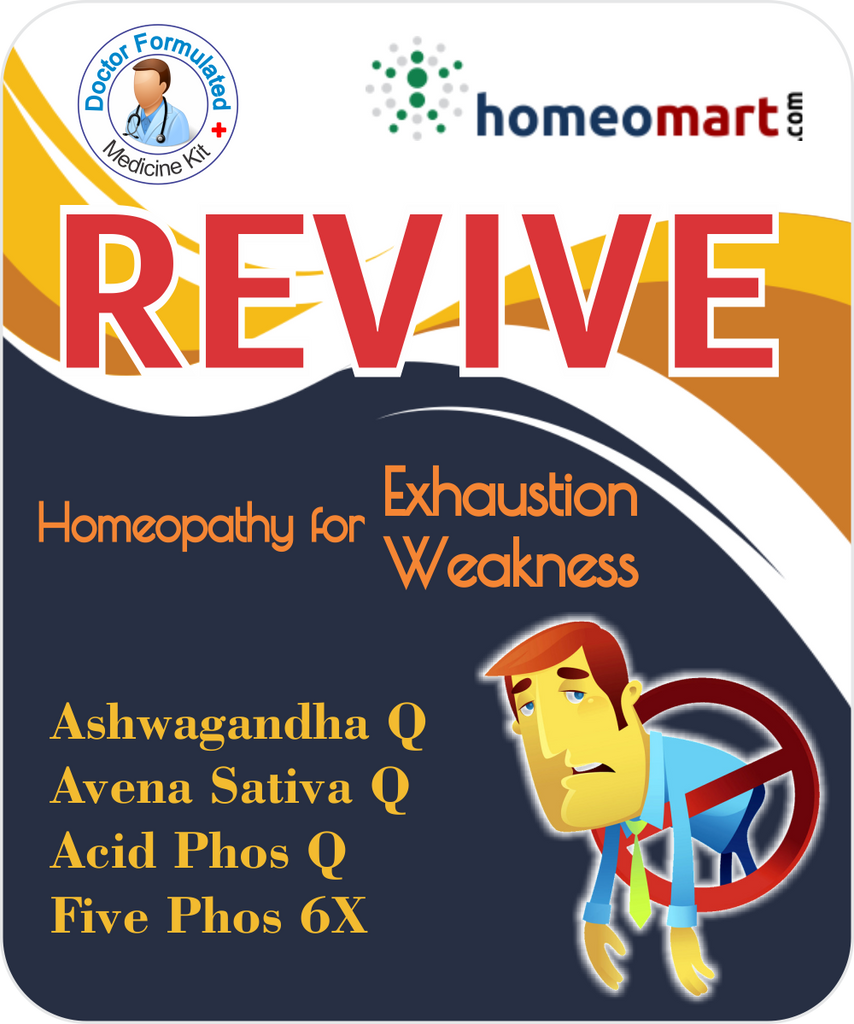 Revive for weakness, energy with Ashwagandha, 5 Phos, Avena Sat, Acid Phos