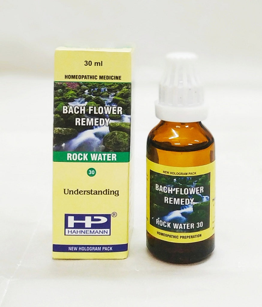 Bach flower Rock Water for self repression, self perfection
