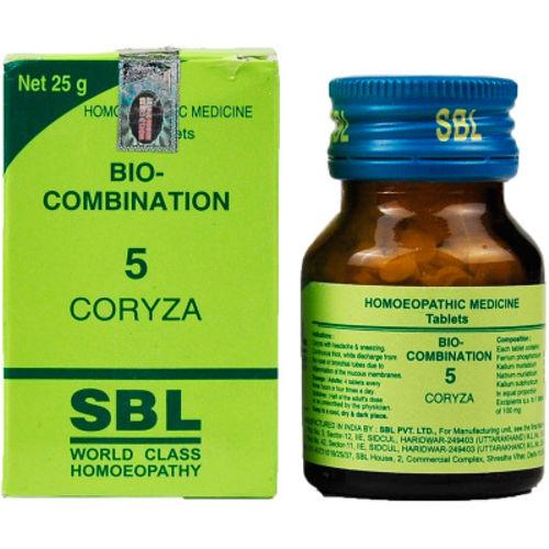 SBL Bio-Combination No 5 Tablets for Coryza (Nasal Discharge)