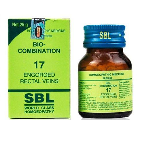 SBL Bio Combination No.17 Tablets for Engorged Rectal Veins (Piles)