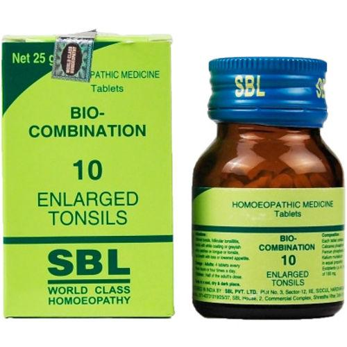 SBL Bio combination No. 10 Tablets for Enlarged Tonsils