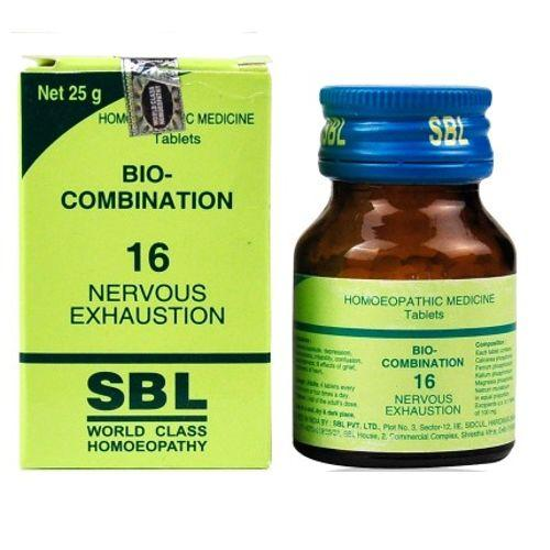 SBL Biocombination BC16 Tablets for Nervous Exhaustion
