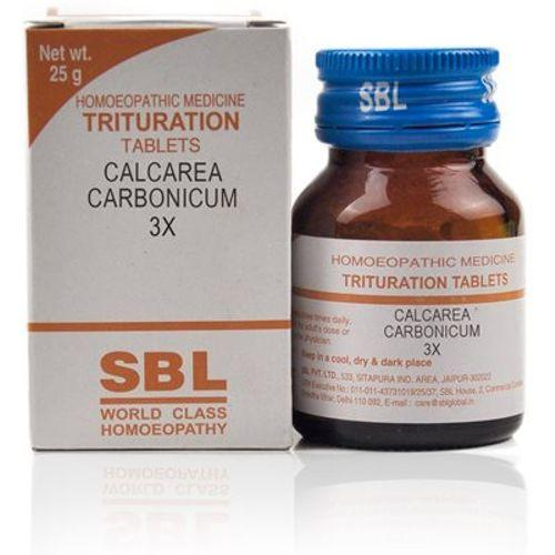 SBL Calcarea Carbonicum 3x Homeopathy Trituration Tablets
