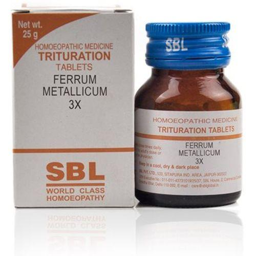 SBL Ferrum Metallicum 3X Homeopathy Trituration Tablets