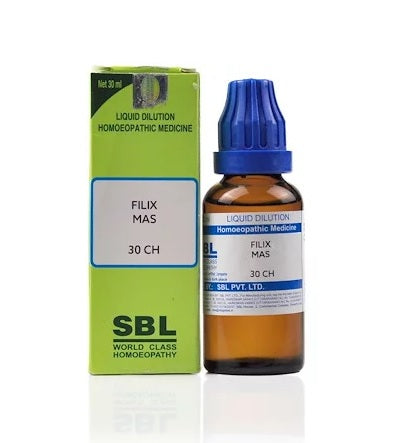 Filix Mas Homeopathy Dilution 6C, 30C, 200C, 1M, 10M, CM