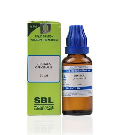 Gratiola Officinalis Homeopathy Dilution 6C, 30C, 200C, 1M, 10M, CM