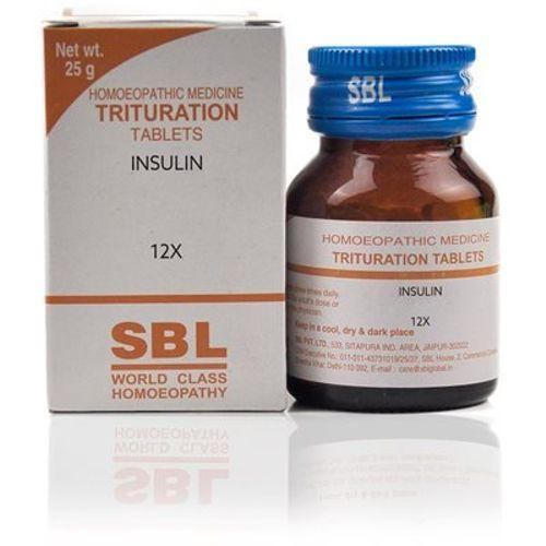 SBL Insulin 12x Homeopathy Trituration Tablets