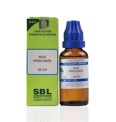 Nux Moschata Homeopathy Dilution 6C, 30C, 200C, 1M, 10M