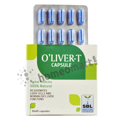 SBL O'Liver-T Capsules for Jaundice, enlarged & fatty liver